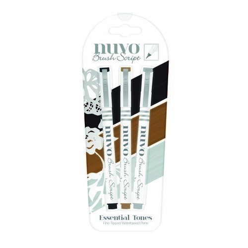 Nuvo 6110 Brush script penset Essential Tones