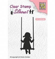 Nellies Choice stempels SIL045 Swinging