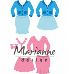 Marianne Design mallen COL1453 Ladies Suit