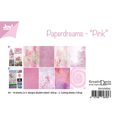 Joy!Crafts 6011/0622 Papierblok Pink