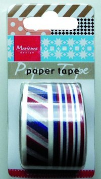 Marianne Design PT2313 Paper Tape Red White Blue