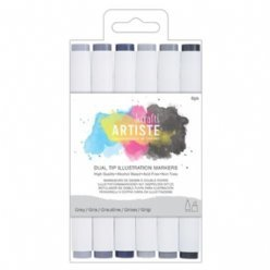 DoCrafts Markers 851400 Greys