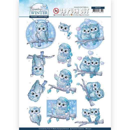 Yvonne Creations SW SB10402 Uitdrukvel Winter Owls