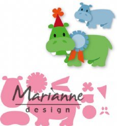 Marianne Design mallen COL1450 Happy Hippo