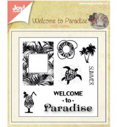 Joy!Crafts stempels 6410/0398 Welcome to Paradise