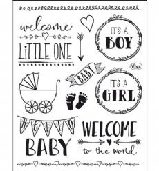 Viva Decor stempels 6600 Hello Baby