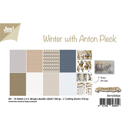 Joy!Crafts 6011/0630 Papierblok Winter met Anton P