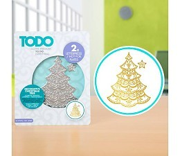 Hot Foil Plates 20990 Christmas Tree