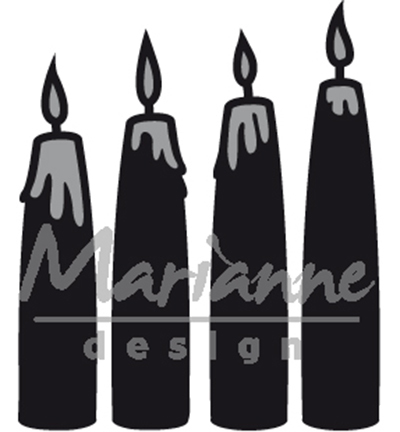 Marianne Design mallen CR1425 Advent Candles