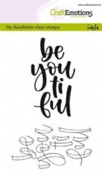 CraftEmotions stempelteksten 1804 Be You ti ful