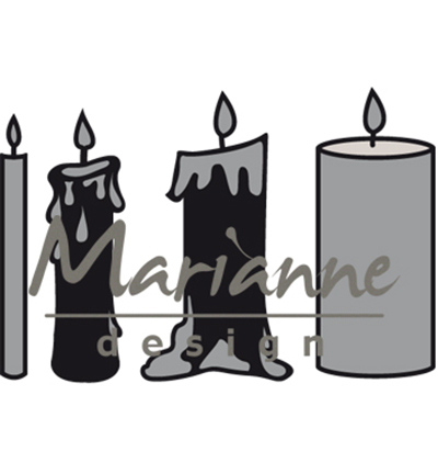 Marianne Design mallen CR1426 Candles Set