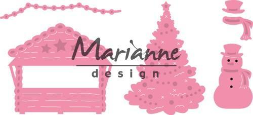 Marianne Design mallen COL1440 Village Decorat