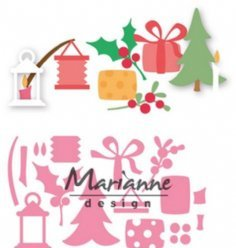 Marianne Design mallen COL1439 Christmas Decor
