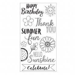 Sizzix Clearstamps 663602 Hello Sunshine