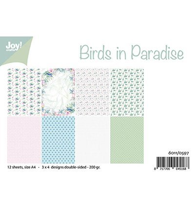 Joy!Crafts 6011/0597 Papierblok Birds in Paradise