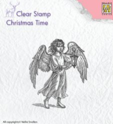 Nellies Choice stempels Angel with Lantern