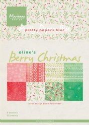 Pretty Papers Bloc PB7053 Berry Chistma