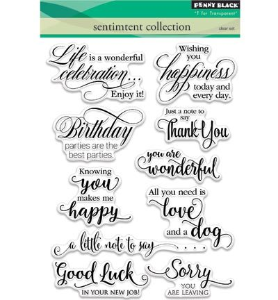 Penny Black Stempels 30-350 Sentiment Collection