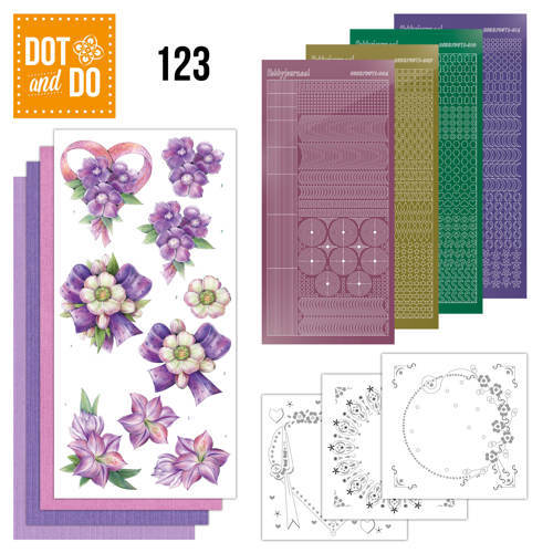 DOT and DO 123 Hobbydots Purple Flowers