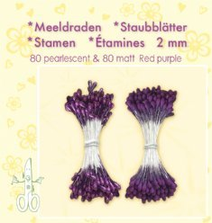 Leane Creatief Meeldraden 26.4889 Red Purple