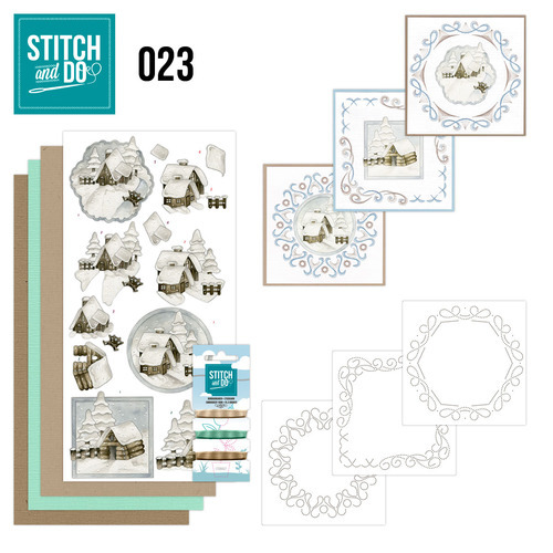 Stitch and Do set STDO023 Snow Cabins