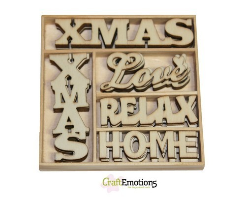 CraftEmotions Houten Box 0220 Xmas