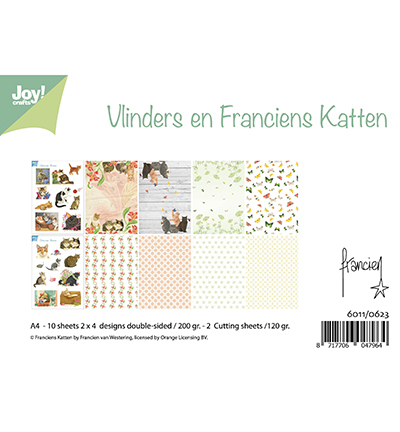 Joy!Crafts 6011/0623 Papier set Franciens Katten