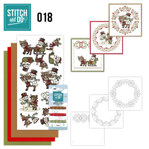 Stitch and Do set STDO018 Sneeuwpop | Rendier