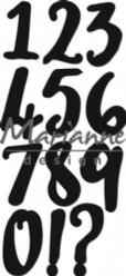Marianne Design mallen CR1429 Brush Numbers