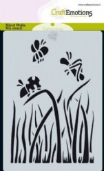 CraftEmotions Mask stencil 0111 Gras