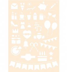Joy!Crafts stencil 6002/0875 Journaling 8