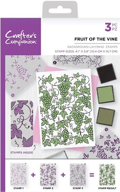 Crafters Companion stempels BKFRU Fruit of the Vin