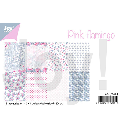 Joy!Crafts 6011/0624 Papierblok Pink Flamingo