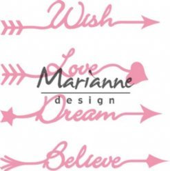 Marianne Design mallen COL1458 Arrow Sentime