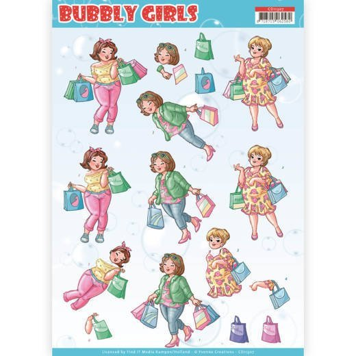 3d knipvel Yvonne CD11307 Girls Shopping