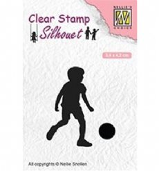 Nellies Choice stempels SIL049 Football Player