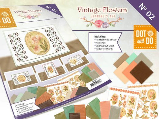 Dot and Do A6 boek 2 Vintage Flowers