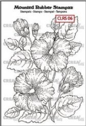 Crealies stempels CLRS06 Hibiscus