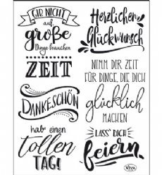 Viva Decor stempels 6800 Lettering Deutsch