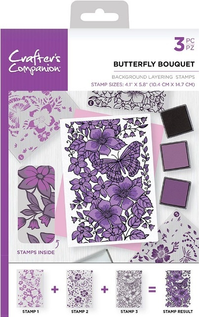 Crafters Companion stempels BKBUT Butterflies Bouq