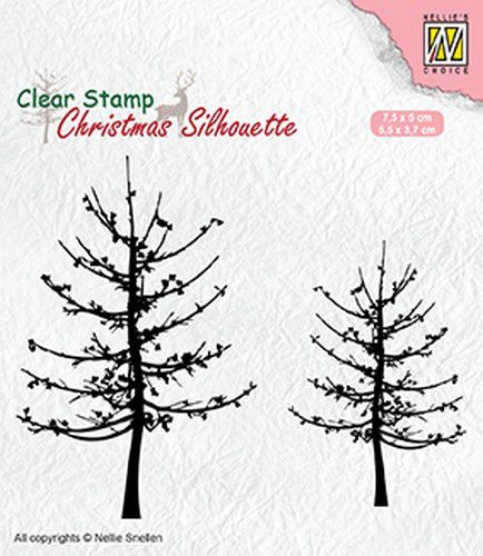 Nellies Choice stempels SIL010 Leafless Trees
