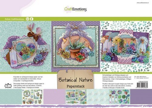 CraftEmotions Paperstack 0209 Botanical Nature