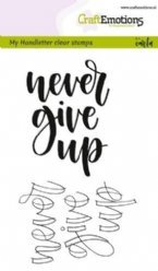 CraftEmotions stempelteksten 1803 Never Give Up