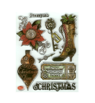 Viva Decor stempels 7012 Kerst Steampunk