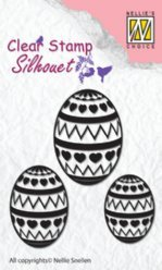 Nellies Choice stempels SIL028 Easter Eggs