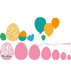 Marianne Design mallen COL1425 Easter Eggs