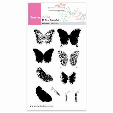 Crafts Too stempels CT25805 Butterflies