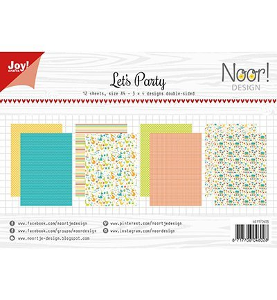 Joy!Crafts 6011/0609 Papierblok Let's Party