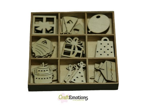 CraftEmotions Houten Box 0213 Party