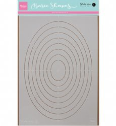 Marianne Design Stencil PS8008 Basic Shapes Ovaal